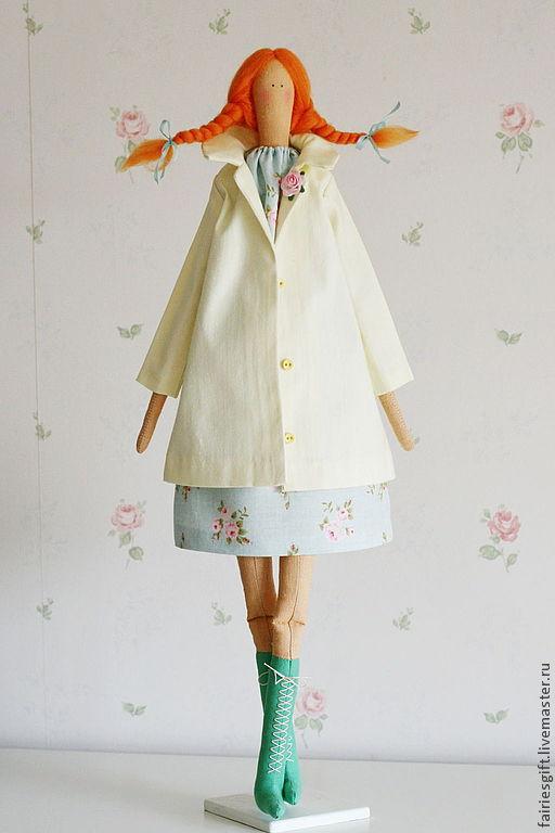 """Куклы Тильды ручной работы. Ярмарка Мастеров - ручная работа. Купить Тильда """"Весна идет!"""". Handmade. Салатовый, текстильная кукла"""