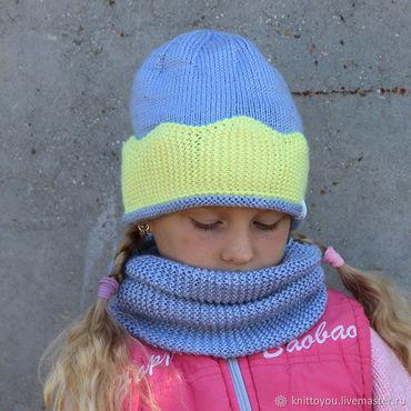 Works for children handmade. Livemaster - original item Set cap and snudy knitting handmade. Handmade.