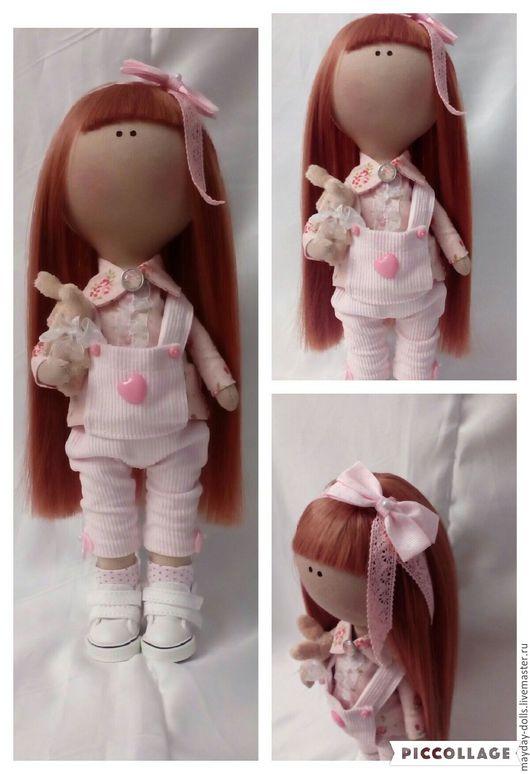 Куклы тыквоголовки ручной работы. Ярмарка Мастеров - ручная работа. Купить Интерьерная текстильная кукла большеножка Леся. Handmade.