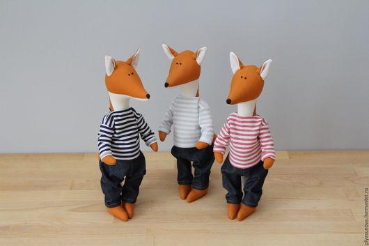 Куклы Тильды ручной работы. Ярмарка Мастеров - ручная работа. Купить Лисята Eins, Zwei und Drei - мягкая игрушка в стиле тильда. Handmade.