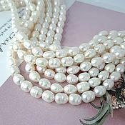 Материалы для творчества handmade. Livemaster - original item Thread Pearl natural rice approx. 6 mm (thickness) white (3785). Handmade.