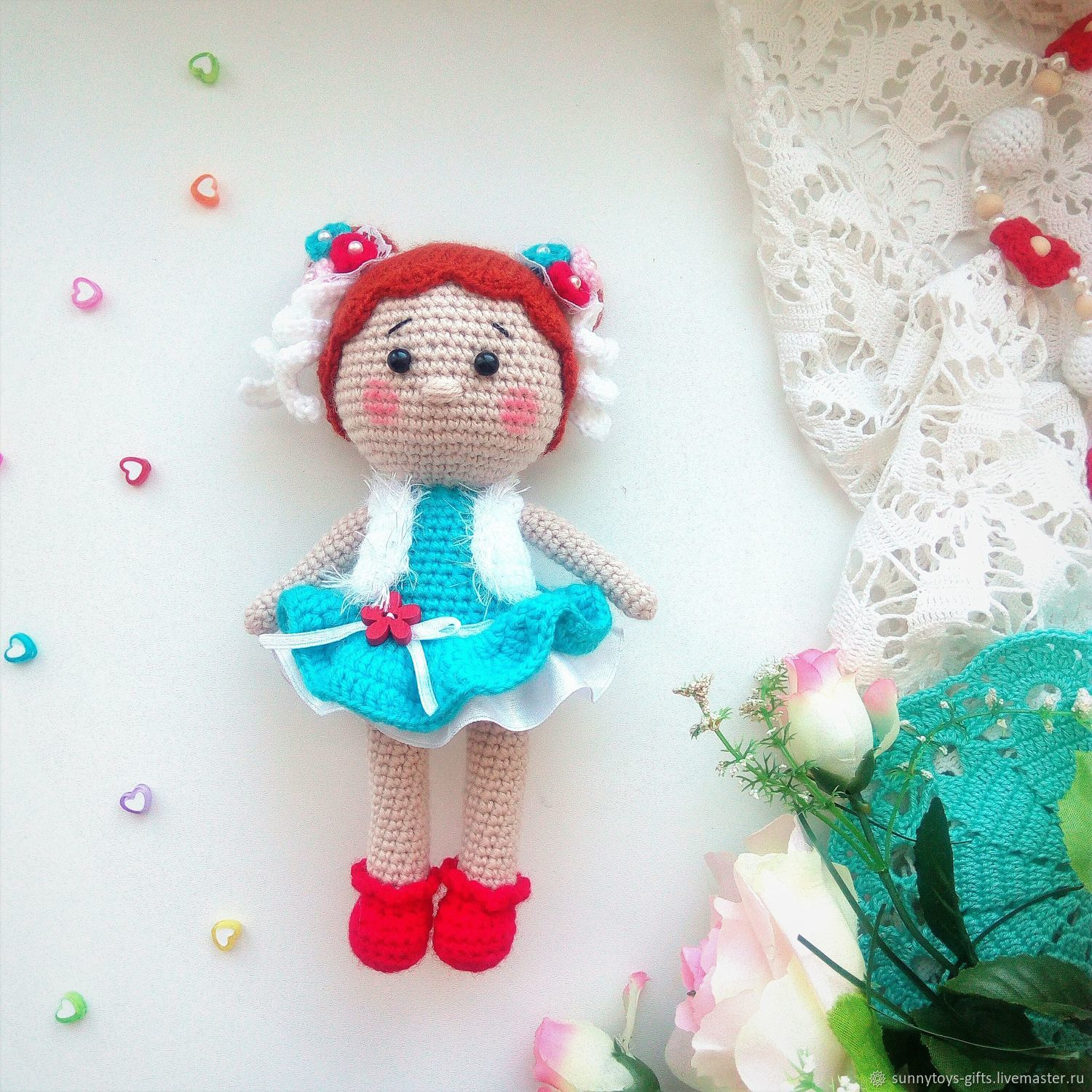 Doll knitted game Mila, Stuffed Toys, Berezovsky,  Фото №1
