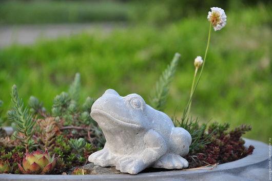 Статуэтки ручной работы. Ярмарка Мастеров - ручная работа. Купить Статуэтка Лягушка из бетона в стиле Прованс, Шебби. Handmade.