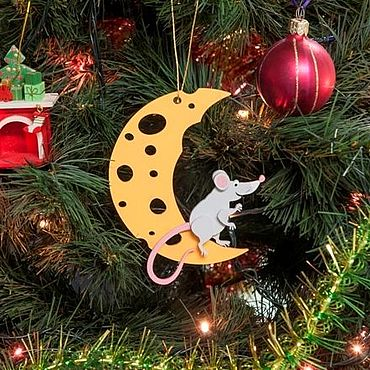 Сувениры и подарки ручной работы. Ярмарка Мастеров - ручная работа Символ года 2020 - Крыса на луне 7047. Handmade.