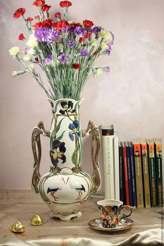 """Вазы ручной работы. Ярмарка Мастеров - ручная работа. Купить Ваза фарфоровая """"Модерн"""". Handmade. Фарфор, ирисы, вазы"""