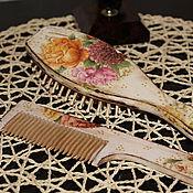 """Сувениры и подарки ручной работы. Ярмарка Мастеров - ручная работа Расчески """"Королевские розы"""".. Handmade."""