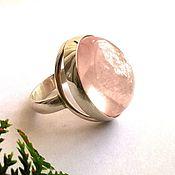 """Украшения ручной работы. Ярмарка Мастеров - ручная работа Кольцо""""Rose silk """"-розовый кварц,серебро 925. Handmade."""