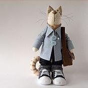 Куклы и игрушки ручной работы. Ярмарка Мастеров - ручная работа Котик с сердечком. Handmade.