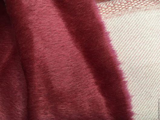 Шитье ручной работы. Ярмарка Мастеров - ручная работа. Купить Альпака пальтовая с шерсть цвет ягодный. Handmade. Бордовый