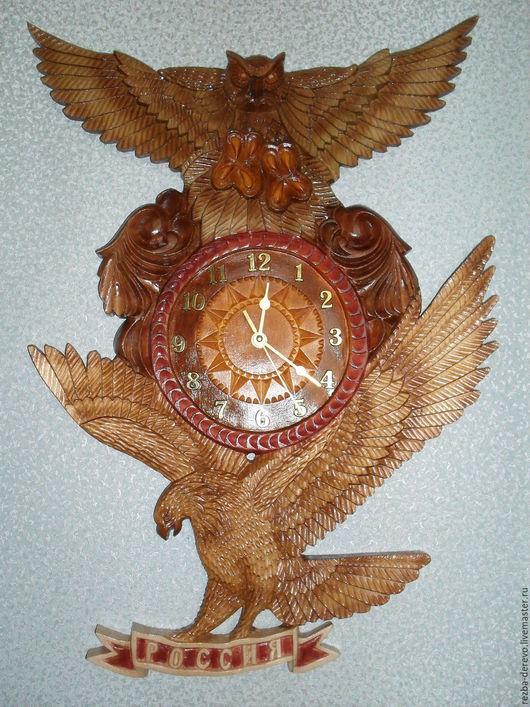 Часы для дома ручной работы. Ярмарка Мастеров - ручная работа. Купить Настенные часы ( Россия). Handmade. Комбинированный