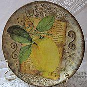 """Посуда ручной работы. Ярмарка Мастеров - ручная работа Тарелка """"Лимон"""". Handmade."""