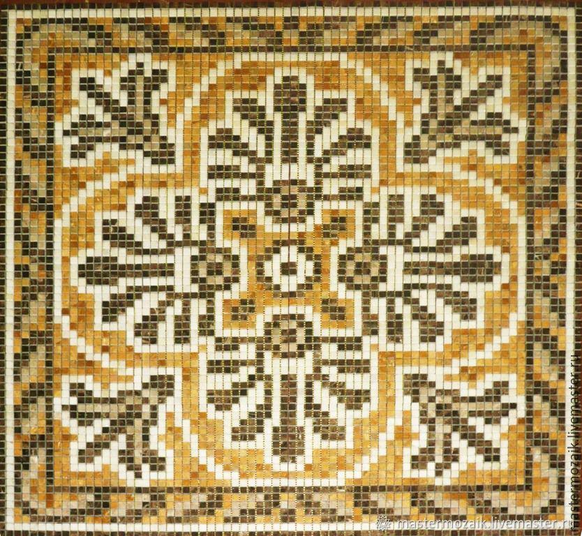 Мозаичный напольный ковер из натурального камня, Ковры для дома, Москва,  Фото №1