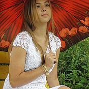 Одежда handmade. Livemaster - original item White JULIA white dress crochet Irish lace. Handmade.