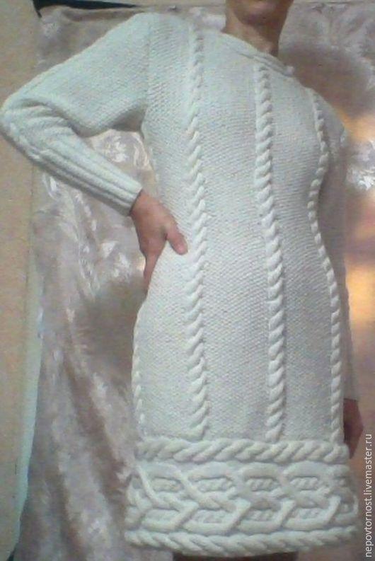 Человечки ручной работы. Ярмарка Мастеров - ручная работа. Купить Снежная королева. Handmade. Платье спицами, ручная работа