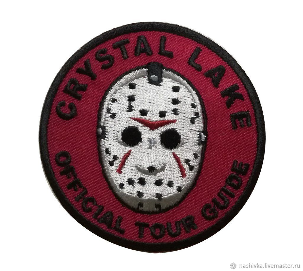 Velcro Crystal Lake Official Tour Guide Friday 13th Jason Patch, Аппликации, Москва,  Фото №1