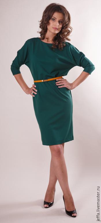 Платья ручной работы. Ярмарка Мастеров - ручная работа. Купить Новинка! Платье из джерси с ремешком арт.5288. Handmade. Зеленый
