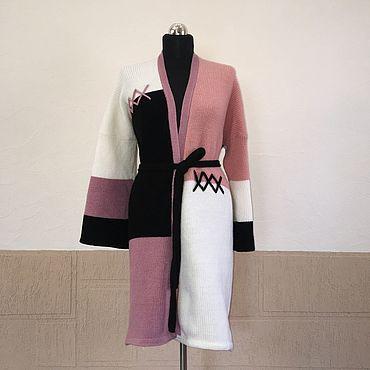 """Одежда ручной работы. Ярмарка Мастеров - ручная работа Кардиган """"Колорблок"""". Handmade."""