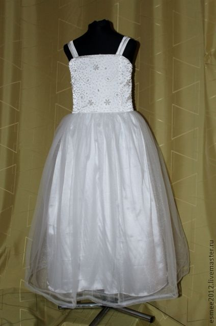 """Одежда для девочек, ручной работы. Ярмарка Мастеров - ручная работа. Купить Платье для девочки """" Маленькая невеста"""". Handmade. Белый"""