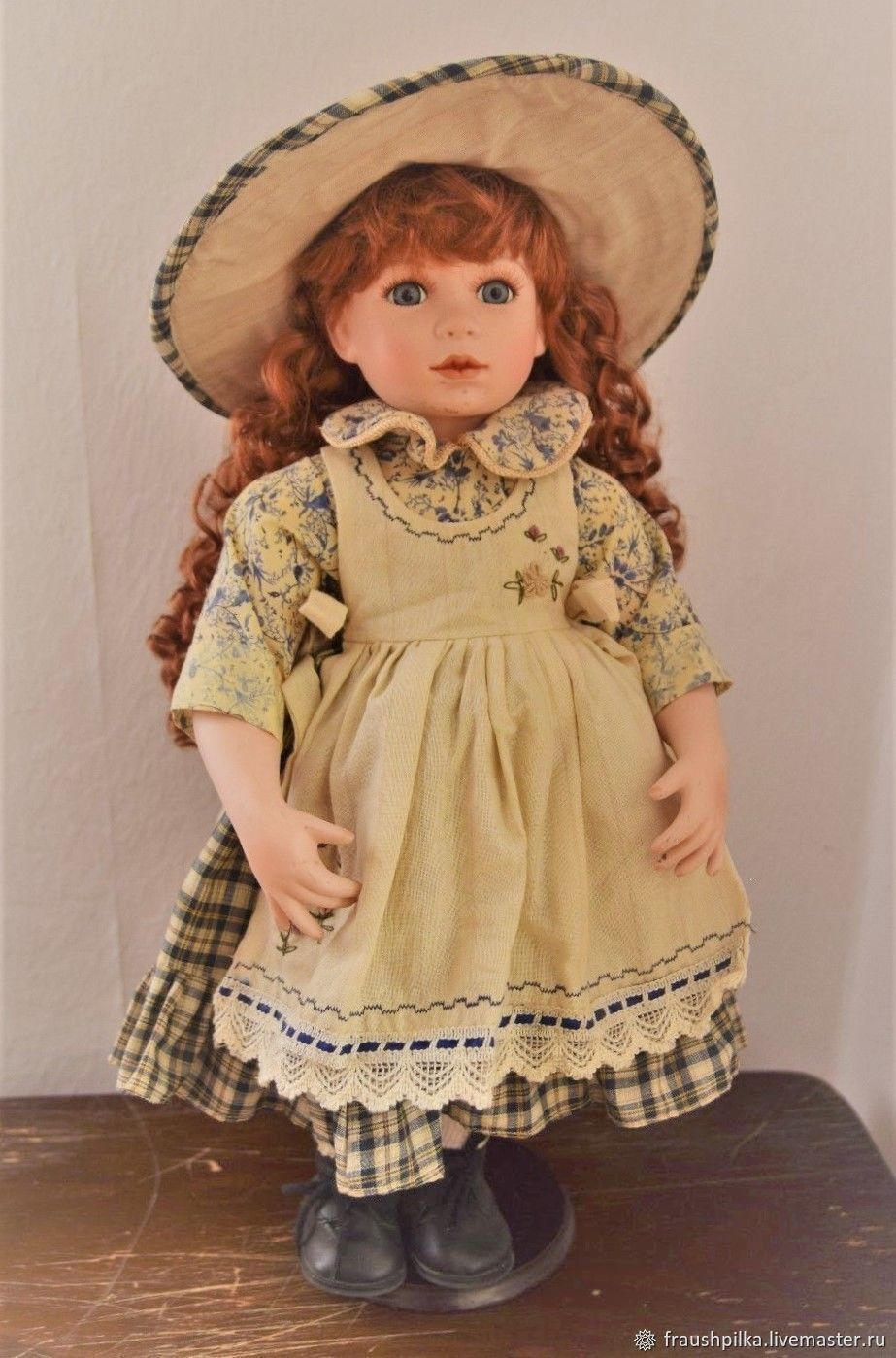 Гуси мои, гуси...  Коллекционная кукла от Reinhart Faelens, Интерьерная кукла, Аугсбург,  Фото №1