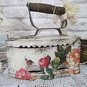 """Для дома и интерьера ручной работы. Ярмарка Мастеров - ручная работа Старинный  утюг """"Цветы прованса """". Handmade."""