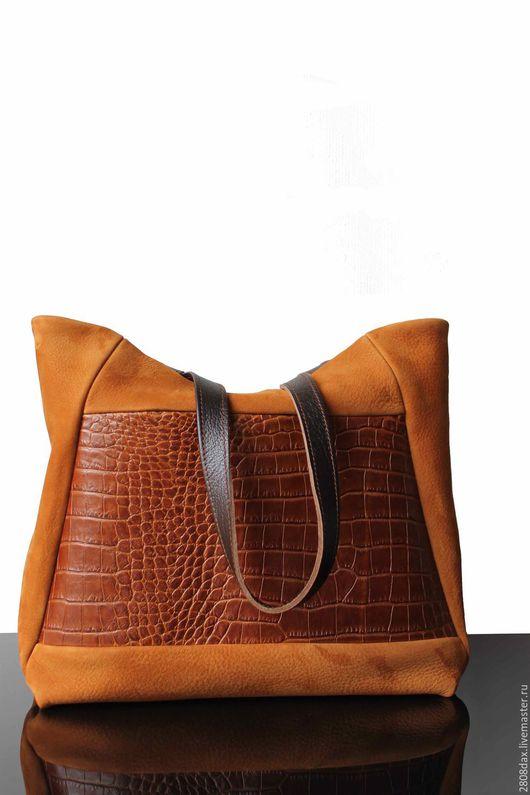 Женские сумки ручной работы. Ярмарка Мастеров - ручная работа. Купить Замшевая сумка, рыжая сумка, рыжий, коричневый, сумка замша. Handmade.