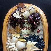 Картины и панно handmade. Livemaster - original item Panels of wood, surround with grapes. Handmade.