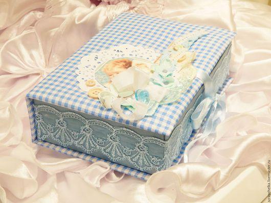 Подарки для новорожденных, ручной работы. Ярмарка Мастеров - ручная работа. Купить мамины сокровища для мальчика. Handmade. Голубой, сокровищница
