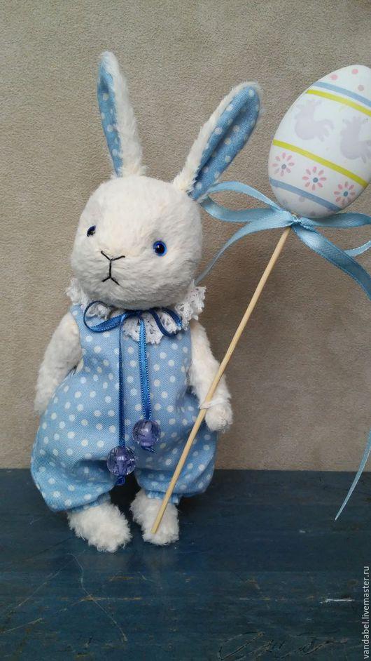 Мишки Тедди ручной работы. Ярмарка Мастеров - ручная работа. Купить Зайка тедди ( пасхальный). Handmade. Белый, bunny
