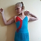 Танцевальные костюмы ручной работы. Ярмарка Мастеров - ручная работа. Купить Платье для латины. Handmade. Бирюзовый, бифлекс