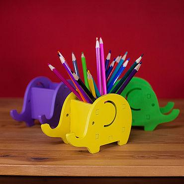 """Канцелярские товары ручной работы. Ярмарка Мастеров - ручная работа Карандашница """"Слон"""". Handmade."""
