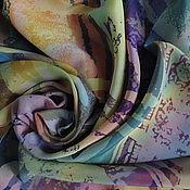"""Аксессуары ручной работы. Ярмарка Мастеров - ручная работа Палантин шелковый """"Пастельный Пепельный Перламутровый"""". Handmade."""