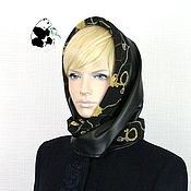 Аксессуары handmade. Livemaster - original item Designer double-sided scarf. Color black.. Handmade.