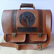 Сумки и аксессуары handmade. Livemaster - original item portfolio mens leather embossed vintage soviet. Handmade.