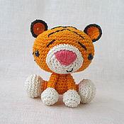 Куклы и игрушки ручной работы. Ярмарка Мастеров - ручная работа Тигра Ррычард, вязаная игрушка крючком. Handmade.
