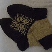 Аксессуары ручной работы. Ярмарка Мастеров - ручная работа Носки вязаные на спицах из 100% шерсти. Handmade.