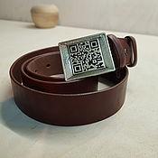 Аксессуары handmade. Livemaster - original item QR CODE-LEATHER BELT-link works - original accessory. Handmade.