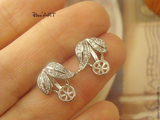 Серьги-гвоздики серебро 925 пробы.