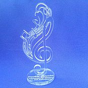 Для дома и интерьера handmade. Livemaster - original item Plexiglass statuette to the musician (Treble clef). Handmade.