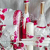 """Свадебный салон ручной работы. Ярмарка Мастеров - ручная работа Свадебный набор""""Фуксия"""". Handmade."""