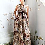 """Одежда ручной работы. Ярмарка Мастеров - ручная работа Длинное льняное платье """"Феличе"""". Handmade."""