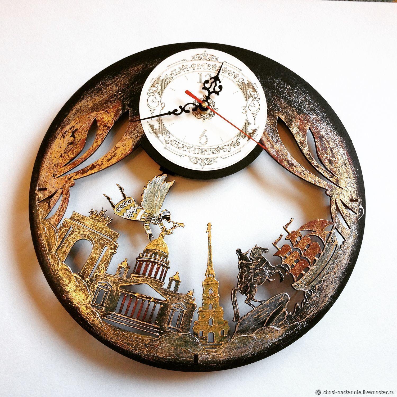 Clock wall city St. Petersburg, Watch, St. Petersburg,  Фото №1
