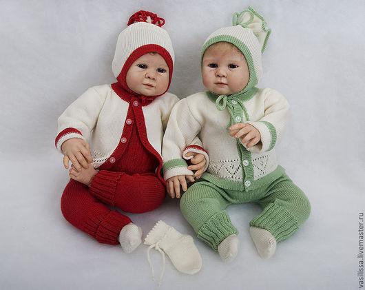 Для новорожденных, ручной работы. Ярмарка Мастеров - ручная работа. Купить Вязаный костюм Нарядный-2 для новорожденных. Handmade.