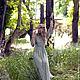 """Платья ручной работы. Ярмарка Мастеров - ручная работа. Купить Платье """"Дриада"""". Handmade. Оливковый, шёлковое длинное платье"""