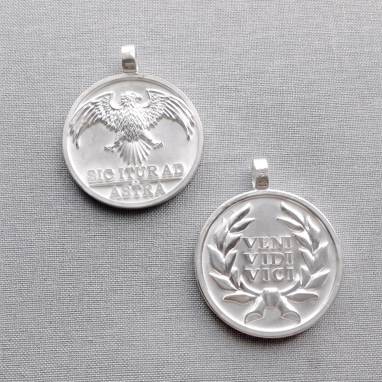 Серебряные медальоны, Подвеска, Москва,  Фото №1