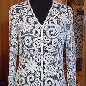 """Одежда ручной работы. Ярмарка Мастеров - ручная работа Жакет """"Жемчужный"""", жакет ажурный, ирландское кружево. Handmade."""