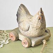 Для дома и интерьера handmade. Livemaster - original item Chicken laying hen on wheels Country Provence Vintage. Handmade.