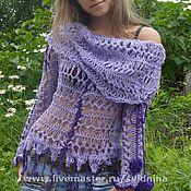 Одежда ручной работы. Ярмарка Мастеров - ручная работа блузон Фиолетовое настроение. Handmade.