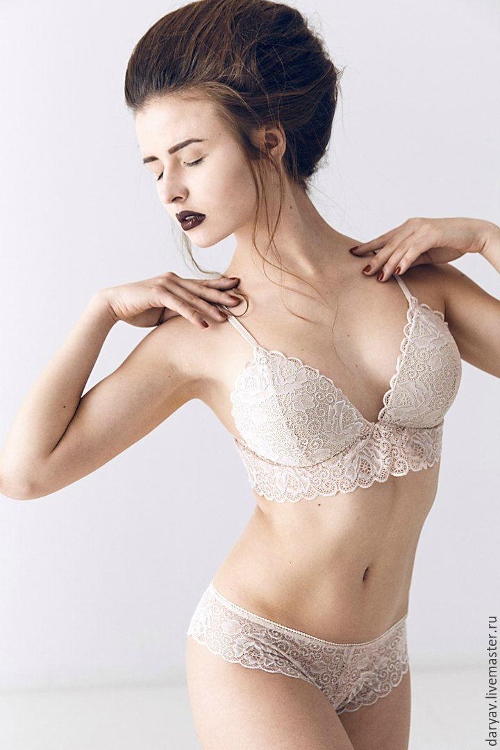 Lace lingerie set triangle cups pushap, Underwear sets, St. Petersburg,  Фото №1