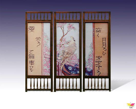 Ширма в японском стиле, ручная работа, батик