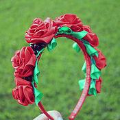 Украшения ручной работы. Ярмарка Мастеров - ручная работа Ободок с розами. Handmade.